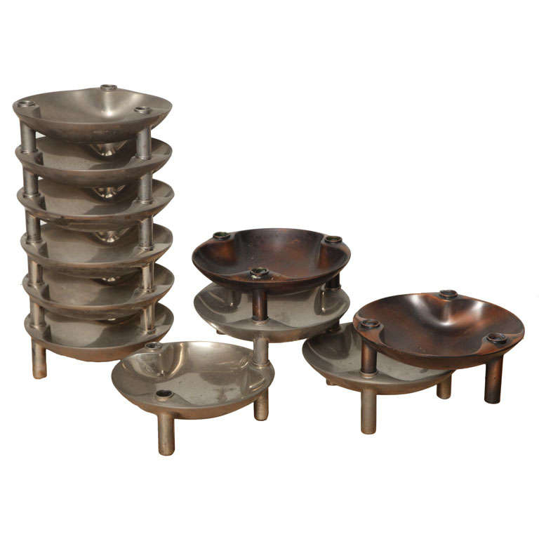Modular Candleholder Tray by BMF Nagel For Sale