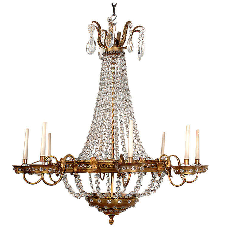 Deco Adaptation Of An Empire Chandelier At 1stdibs