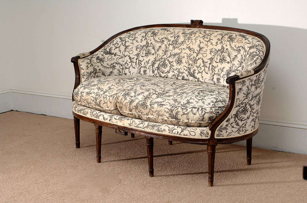 louis xvi style canape corbeille sofa at 1stdibs. Black Bedroom Furniture Sets. Home Design Ideas