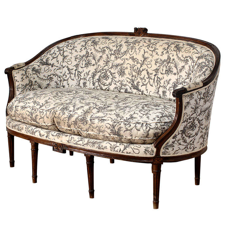 louis xvi style canape corbeille sofa. Black Bedroom Furniture Sets. Home Design Ideas