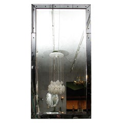 Deco Style Distressed Smoke Mirror