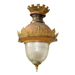 A 19th century French electrified bronze lantern in Empire style, ca. 1870-1890
