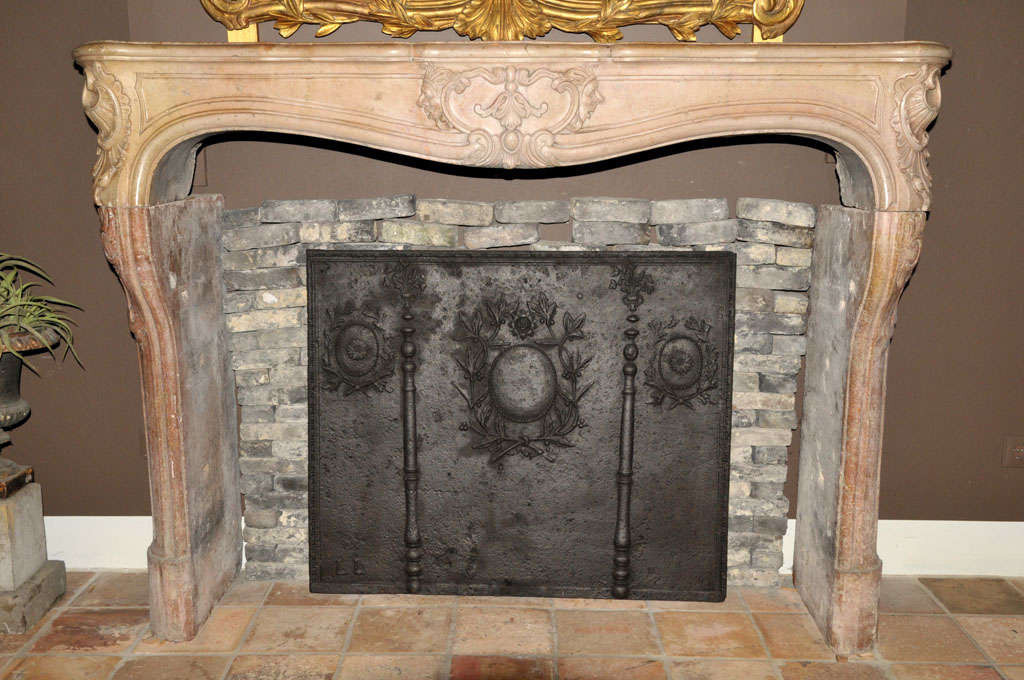 An 18th c french rococo trois coquilles fireplace mantel piece circa 1740 for sale at 1stdibs - Fireplace mantel piece ...
