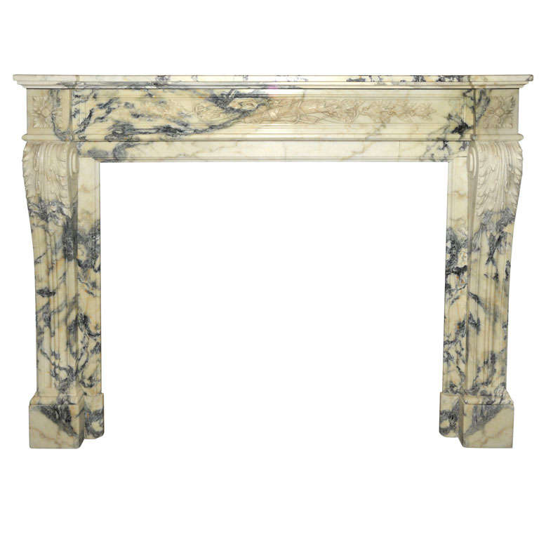 An early 19th century french neoclassical marble fireplace mantel piece at 1stdibs - Fireplace mantel piece ...