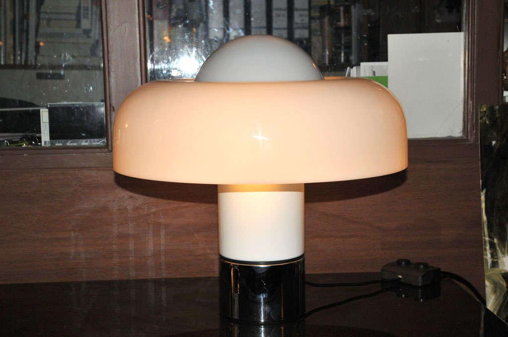 Chrome 2x (pair of) table lamp
