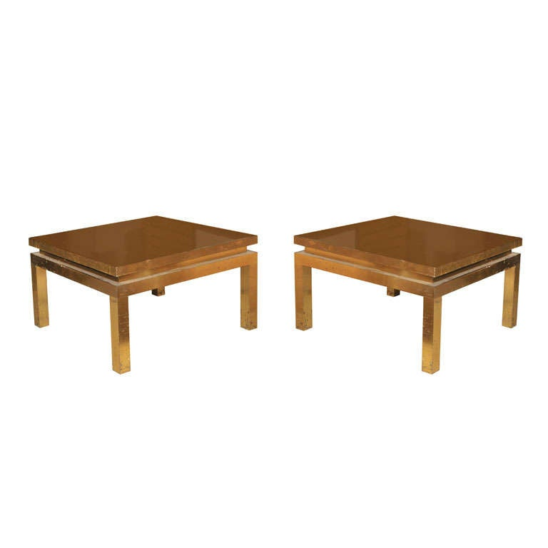 pair of coffee tables by Guy Lefevre for Maison Jansen