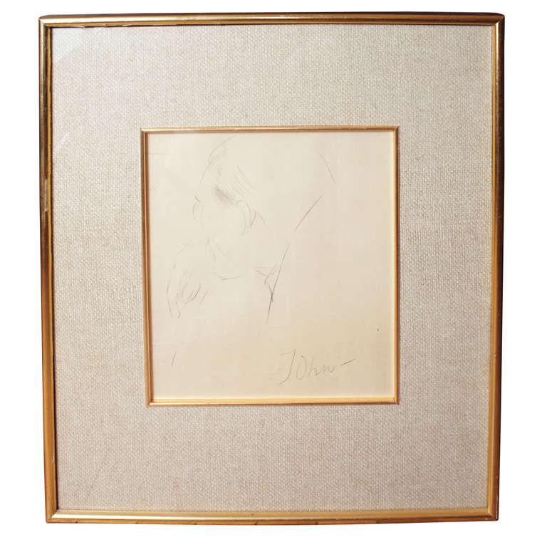 Figural Drawing by Augustus John