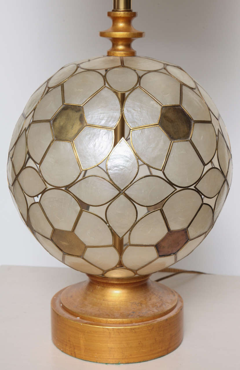 Capiz Shell Floral Table Lamp For Sale At 1stdibs