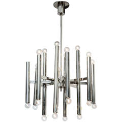 Chrome Multi-Arm Chandelier by Sciolari