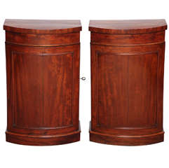 Pair of Early 19th Century Danish, Mahogany Cupboards