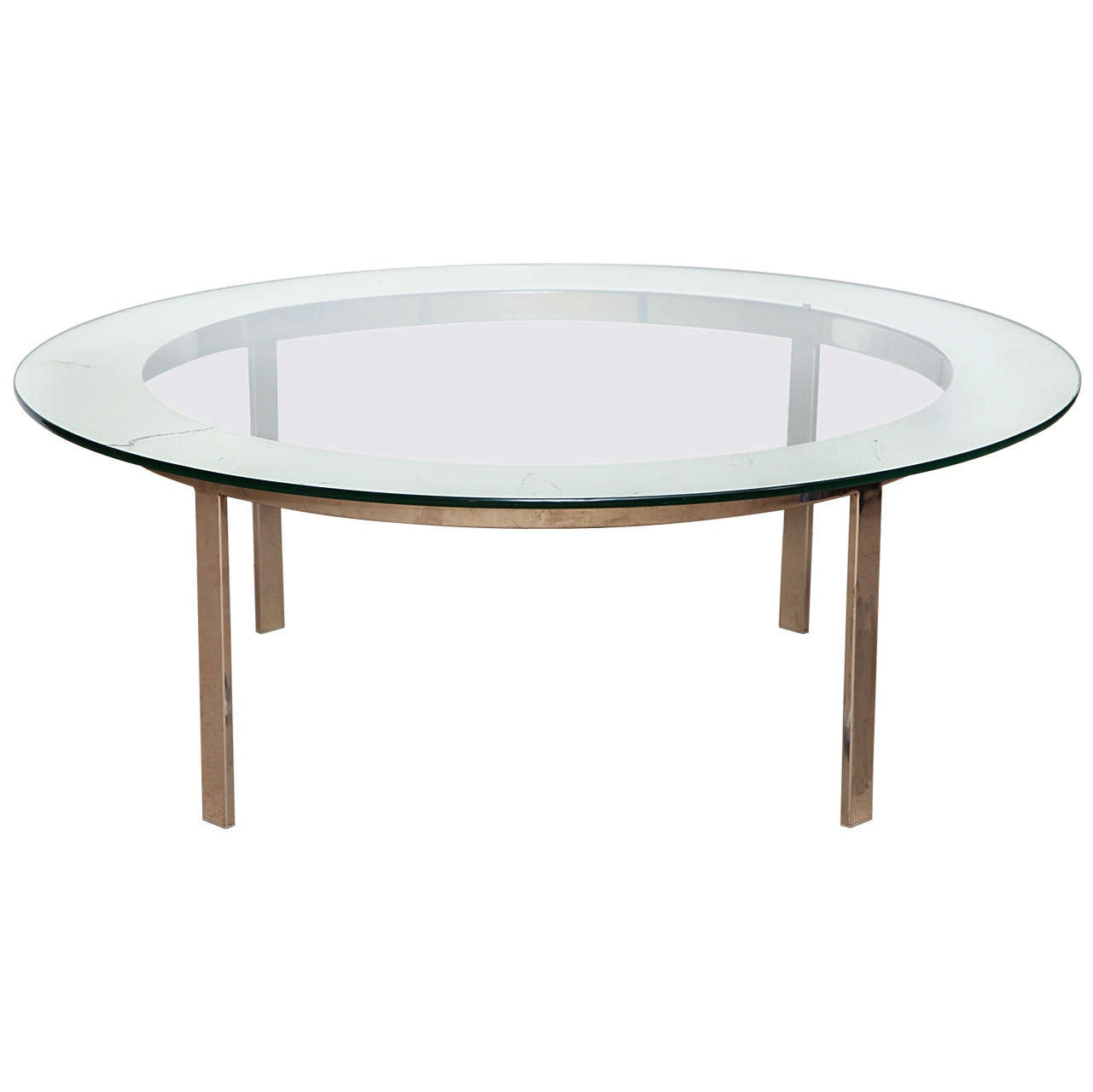 1940's/50's English,Chrome and Glass Low Table