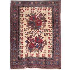 Persian Afshar Carpet circa 1890 in Handspun Wool and Natural Vegetable Dyes