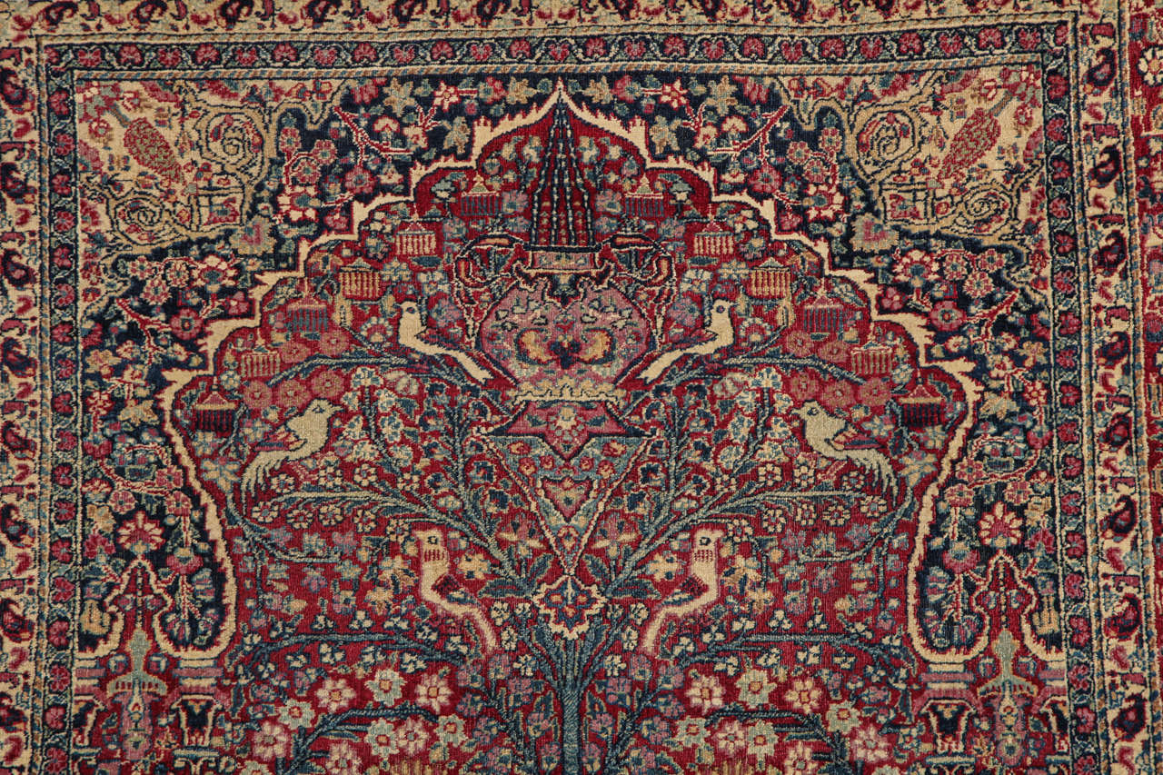 Persian Tehran Carpet with Tree of Life Design, circa 1900 In Excellent Condition For Sale In New York, NY