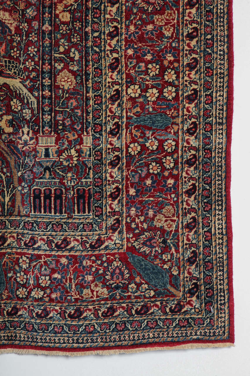 20th Century Persian Tehran Carpet with Tree of Life Design, circa 1900 For Sale