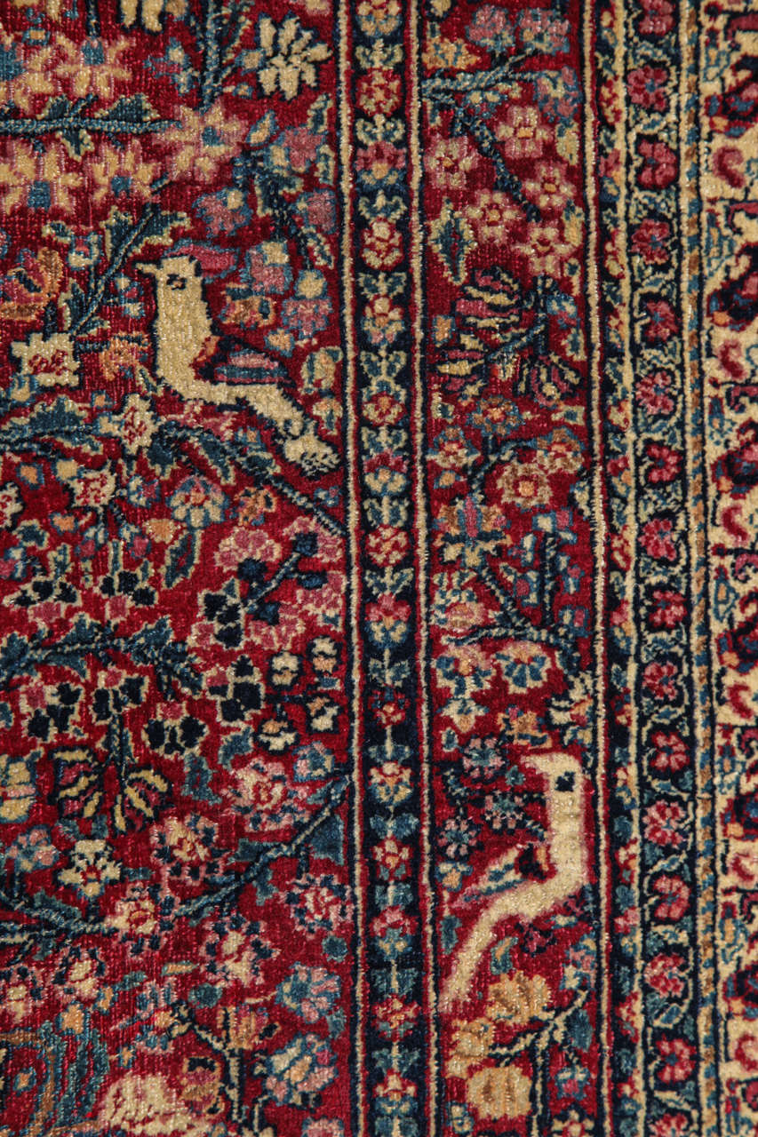 Persian Tehran Carpet with Tree of Life Design, circa 1900 For Sale 1
