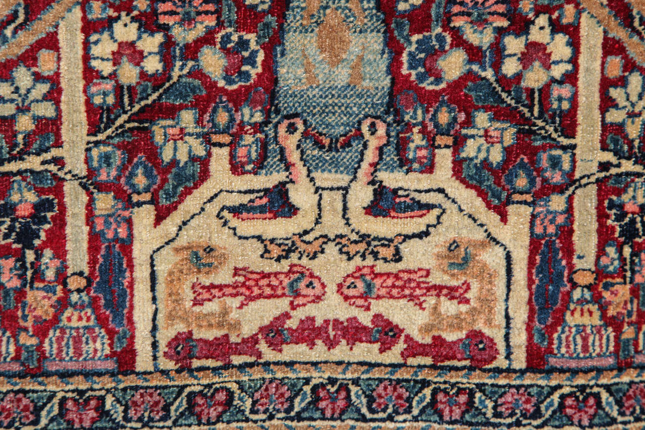 Persian Tehran Carpet with Tree of Life Design, circa 1900 For Sale 2