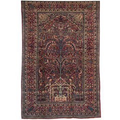 Persian Tehran Carpet Circa 1900 with Tree of Life Design