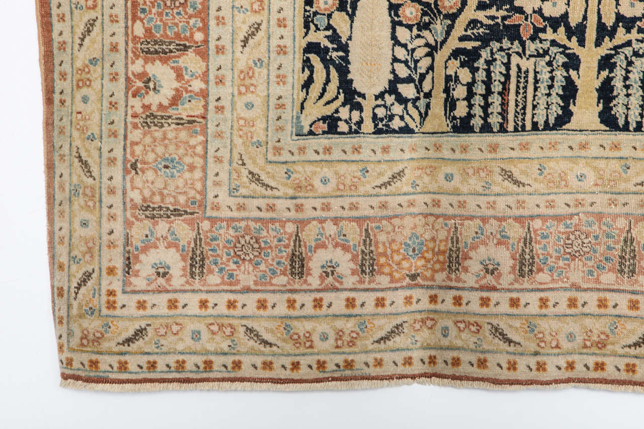19th Century Persian Haji Jalili Tabriz Carpet with Tree of Life Design, circa 1880 For Sale