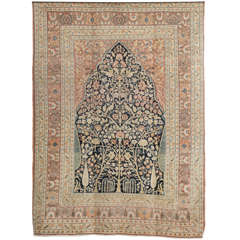 Persian Haji Jalili Tabriz Carpet with Tree of Life Design, circa 1880