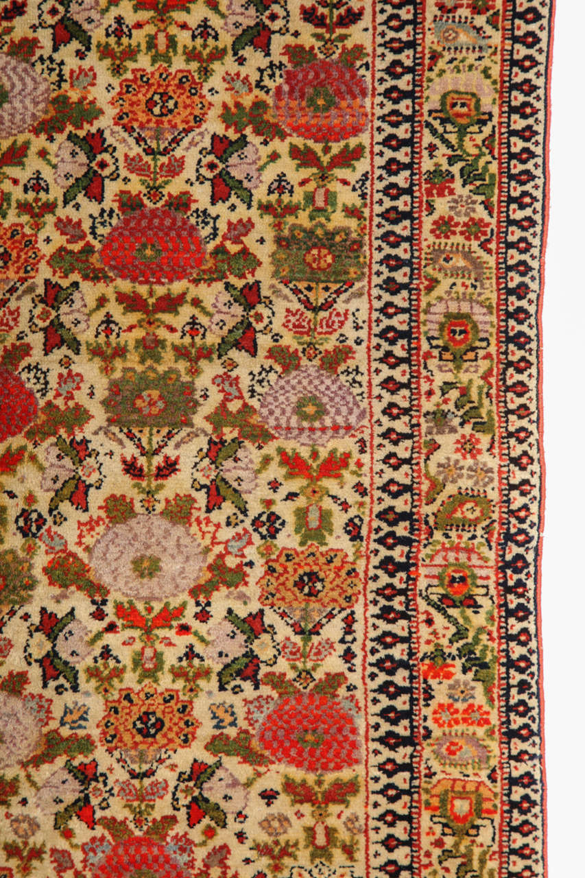 19th Century Persian Mishan Malayer Carpet with Wool Pile and Vegetable Dyes, circa 1890 For Sale