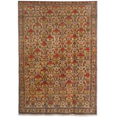 Persian Mishan Malayer Carpet with Wool Pile and Vegetable Dyes, circa 1890