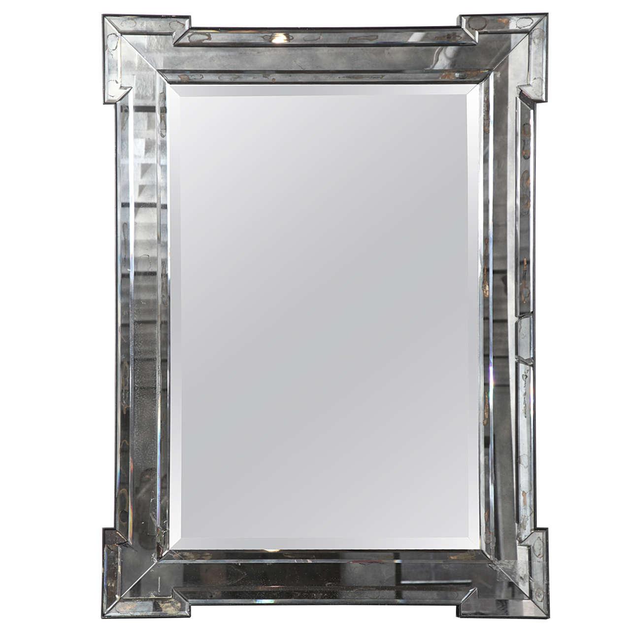 Mercury Glass Mirror At 1stdibs