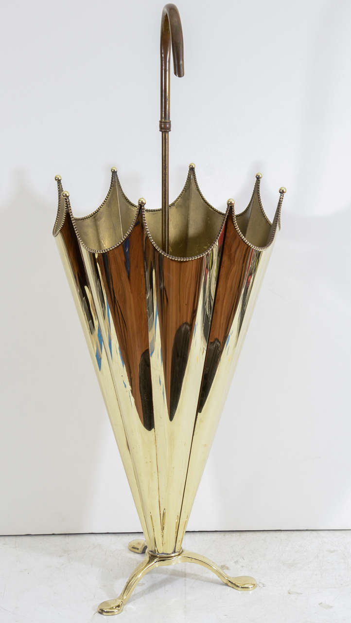 a03b1bfa9d3b Vintage sculptural umbrella stand in the shape of an umbrella. The piece is  in solid