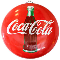 1950's Porcelain over Steel Coca Cola Sign