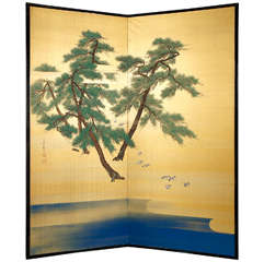 Japanese Two Panel Screen