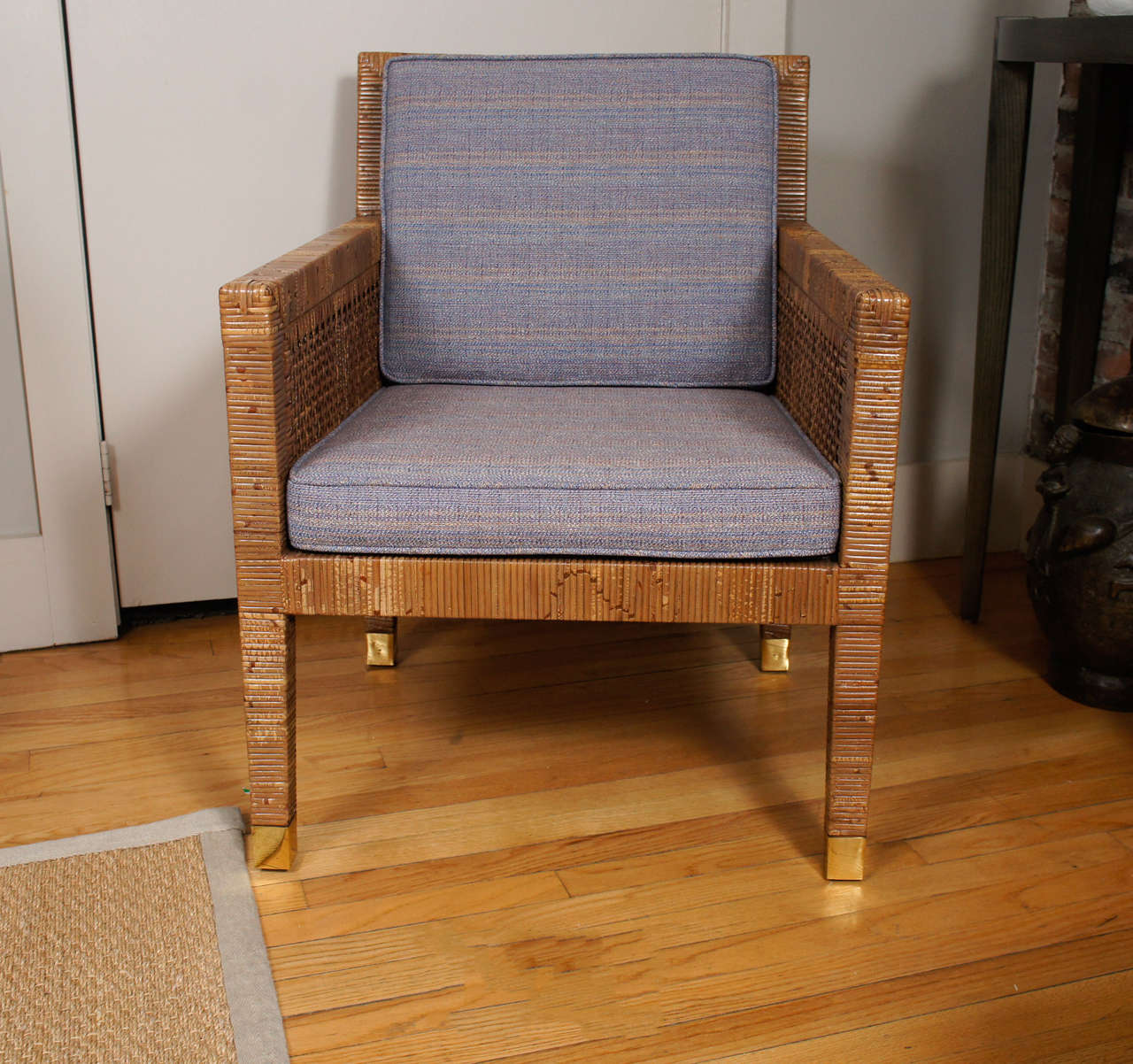 Rattan Chair Designed by Billy Baldwin at 1stdibs
