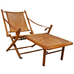 English Faux Bamboo Campaign Chair