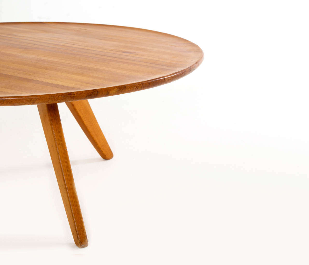 Solid Pine Wood Cocktail Table By Carl Malmsten For Svensk Fur At 1stdibs