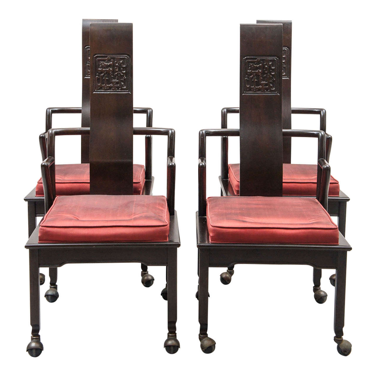 this set of eight 1950 39 s widdicomb dining chairs is no longer