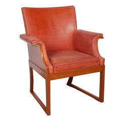 Mahogany Armchair Attributed to Frits Henningsen