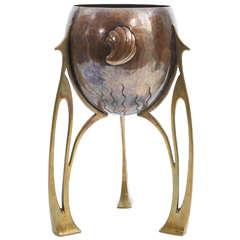 Art Nouveau WMF  / Jugendstil Copper & Brass Planter / vase c. 1900
