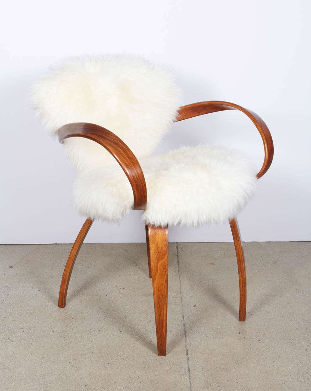 Delicieux Mid Century Modern Original Norman Cherner Chair For Plycraft In Silky  Argentine Mongolian Goat Hide