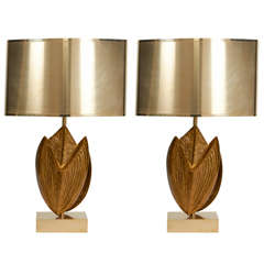 Exceptional Pair of Maison Charles Lamps