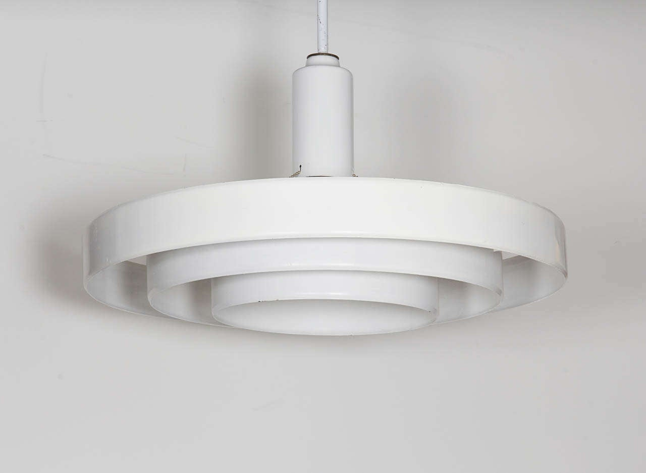 Minimalist White Three Tier Saucer Pendant Light Fixture