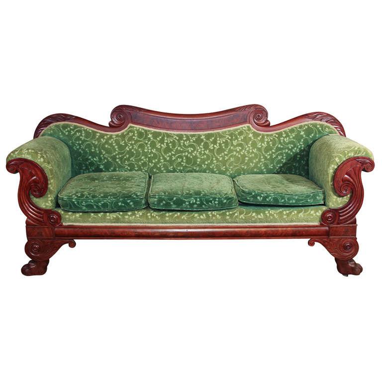 American Mahogany Empire Sofa At 1stdibs