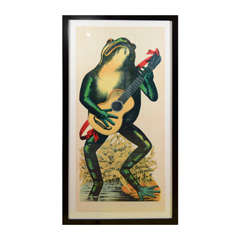 French 19th Century Carnival Print: Frog