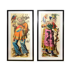 French 19th Century Carnival Prints: Gleeful Drinker | Witch