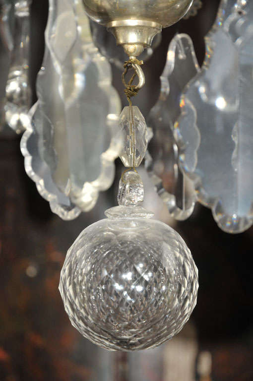 20th Century French Chandelier Silver Plated For Sale