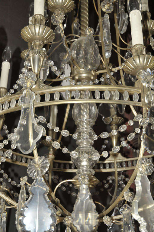 French Chandelier Silver Plated For Sale 3
