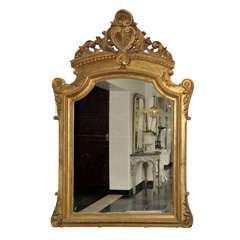 A monumental antique gilt wood mirror