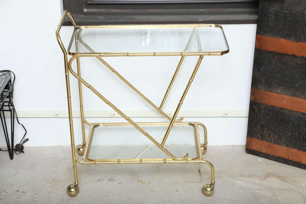 Italian Faux Bamboo Tea Cart