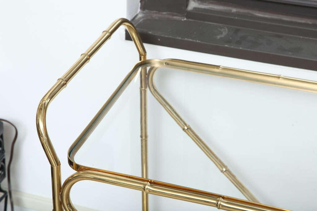 Faux Bamboo Tea Cart 2