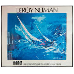 LeRoy Neiman Framed Print of Sailboat Racing