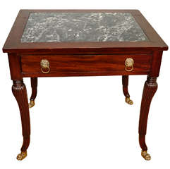 Anglo-Indian, Regency Style Occasional Table with Inset Top