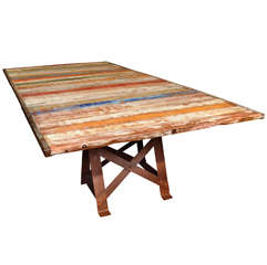 Belgian Hand Painted Work Table