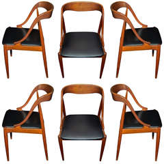 Eight 1960s Danish Chairs by Johanssen Anderssen
